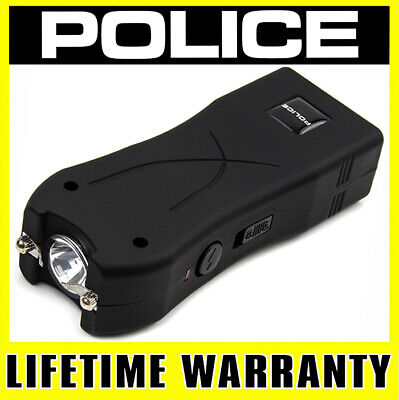 POLICE Stun Gun Mini 398 550 BV Rechargeable LED Flashlight - Black