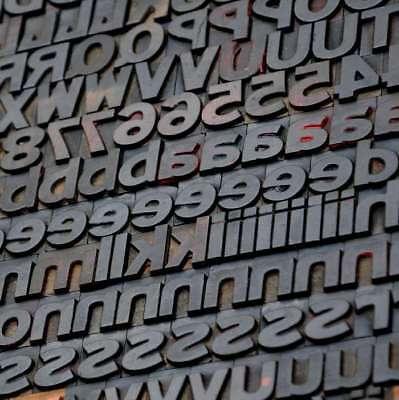Letterpress Wood Printing Blocks 290 Pcs 1.06 Tall Alphabet Type Woodtype Rare