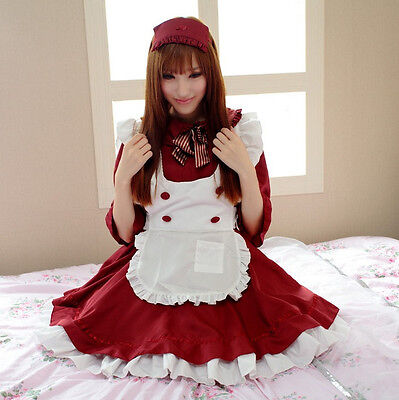 3X Adult Anime Cosplay Maid Costume Lolita French Maid Babydoll Dress Uniform (French Maid Uniforms)