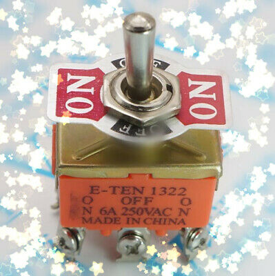 Ac 15a250v 3 Three Position Onoffon Dpdt 2p2t Toggle Switch Lock New 6 Screw