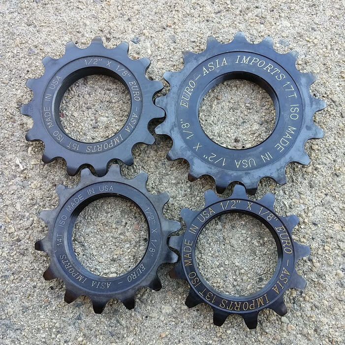 """EURO ASIA IMPORTS DELUXE STEEL TRACK COG 1/8"""" SINGLE SPEED EAI MADE IN USA"""