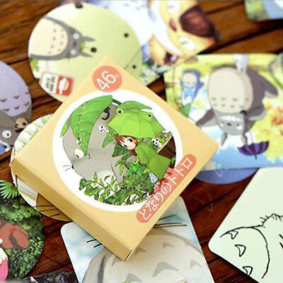 46pc Paper Masking Sticker chinchil  Totoro  Craft Gift Lable Scrapbook Seal Tag - Gift Tag Stickers