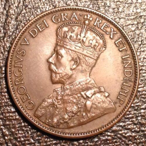 1913  Newfoundland Canada George V One Cent