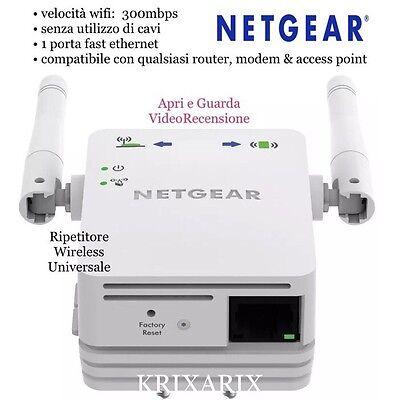 Netgear Range Extender N300 WN3000RP-200PES Wifi Universale Ripetitore (VIDEO)