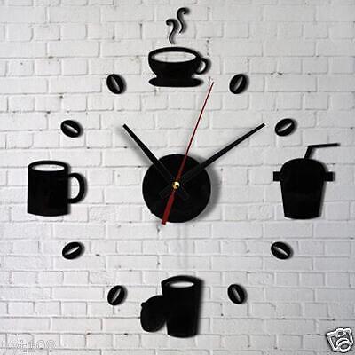 Acrylic DIY Digital Self Adhesive Interior Clock Creative Wall Decoration Clock