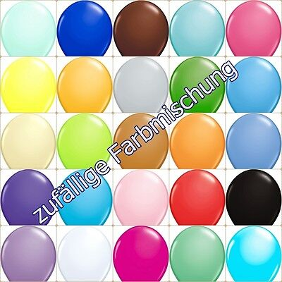 Luftballons Schwarz (25 Luftballons Pastell / Standard Farben freie Farbwahl )
