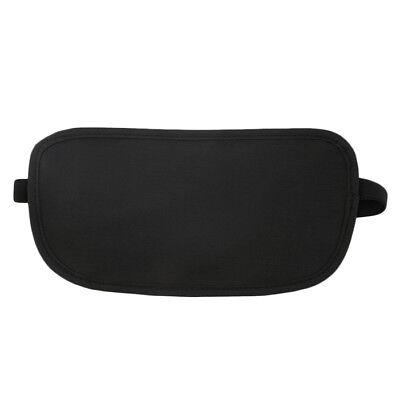 Black Travel Waist Pouch for Passport Money Belt Bag Hidden Security Wallet Us