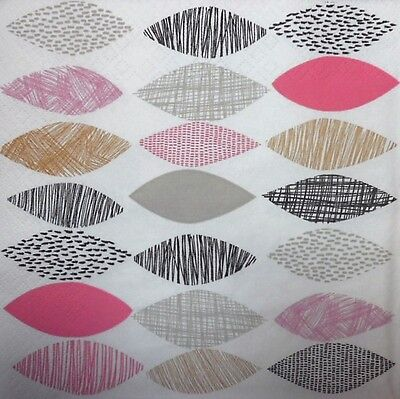 4 x Single  Paper Napkins  Stripes Dots Triangle for DECOUPAGE  CRAFT-20xx