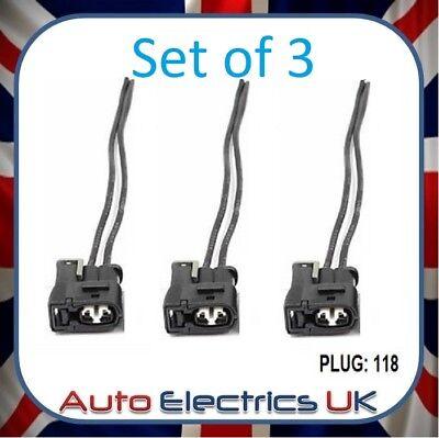 3X 2-Pin Ignition Coil Pack Connector Plug Kit For Toyota Lexus 2Jz 2Jzge 2Jzgte