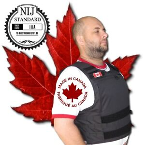 NIJ III-A Stab & Bullet Proof body armour vest, Made in Canada