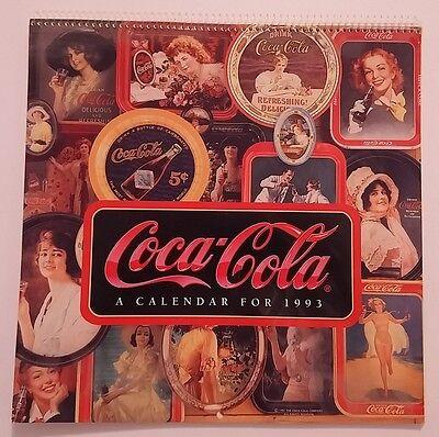 1993 VINTAGE COCA-COLA CALENDAR RARE EXCELLENT CONDITION