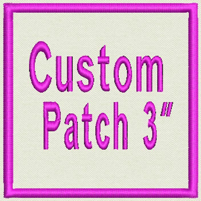 """Set of  2 Rectangle Patches, Tag, Label, Badge, Emblem 3"""" - Iron On or  Sew On"""