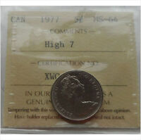 "1977 ""High 7"" Nickel 5 Cents Canada ICCS MS-64"