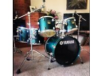 Yamaha stage custom drum kit (6-piece). Inc hardware