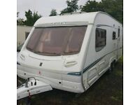 2004 ABBEY SPECTRUM 419 4-5 BERTH END WASHROOM TWIN AXLE TOURING CARAVAN VGC