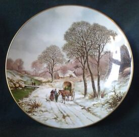COALPORT FINE CHINA COLLECTORS PLATE WINTER LANDSCAPES SERIES MERRY CHRISTMAS