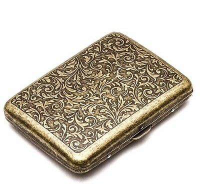 Bronze Portable 20 Pcs With Gift Box Vintage Cigarette S Case Metal Steel Holder](Vintage Cigarette Holder)