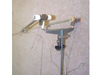 KNITTING MACHINE 4 YARN T TOPPED TENSION MAST & WIRES COMPLETE, USED