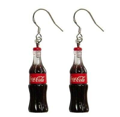 1 pair Coke Coca-Cola Style Cute Fashion Jewelry Dangle Earring USA