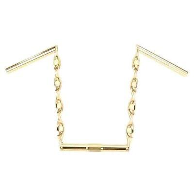 Gold Flat Handle - GOLD FLAT TWISTED 15