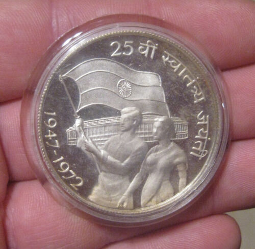 India - 1972B Proof Silver 10 Rupees - Nice!