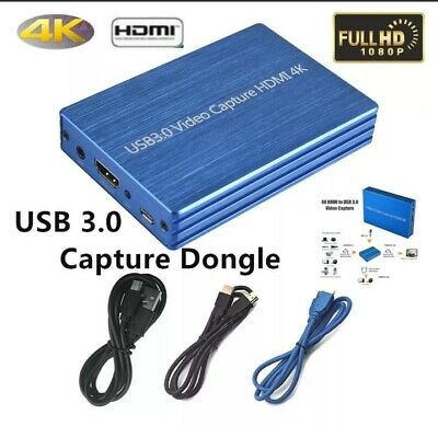 4K HDMI To USB 3.0 Video Capture Card Dongle 60FPS for OBS Game Live Streaming