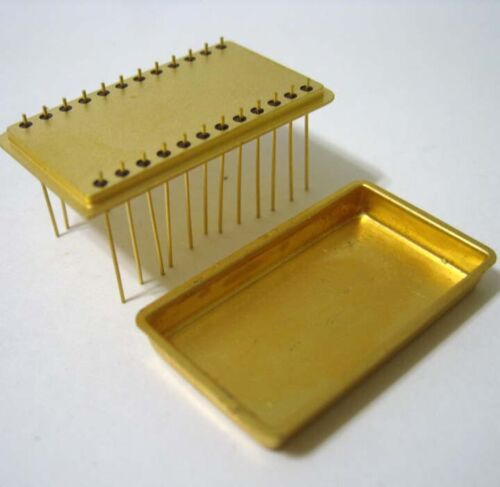 Texas Instruments ® Gold Plated Military IC 24 Pin Carrier With Lid - New