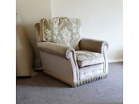 FREE 3-piece suite - very comfortable but unloved! Just needs some care