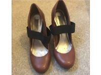 Dune size 4 brown shoes