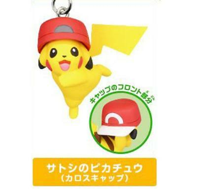 Pokemon Movie Ash Pikachu Kalos Hat Netsuke Capsule figure Collectibles Anime