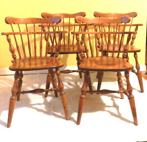 heirloom maple comb back captain 39 s chair early american furniture