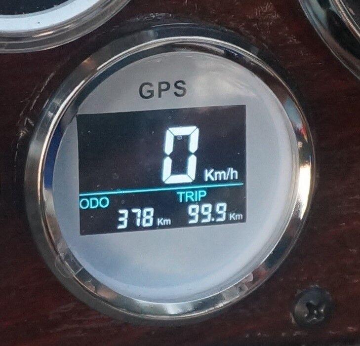 GPS Tachometer Tacho Geschwindigkeitsmesser Digital 52mm