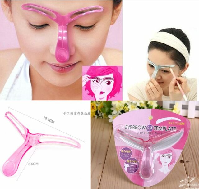 Pro Eyebrow Shaper Template Stereo Stencil Shaping Brow Grooming Makeup Tool