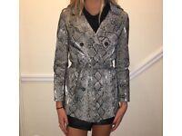 Zara snakeskin print coat
