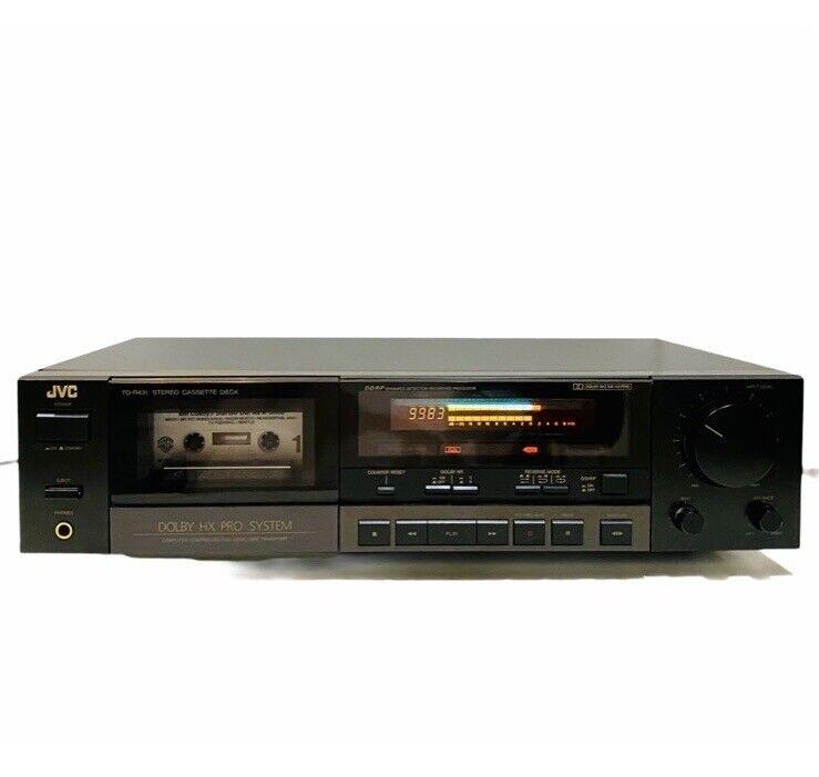JVC TD-R431 Stereo Cassette Recorder Player Deck, Quick Reverse HX Pro Bias Adj