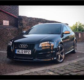 Audi s3 black edition 2012 revo miltek sportback 5dr top spec px swap rs3 rs4 s4 bmw 335d m3 x5 535d