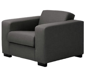 2 sofas and chair for sale.