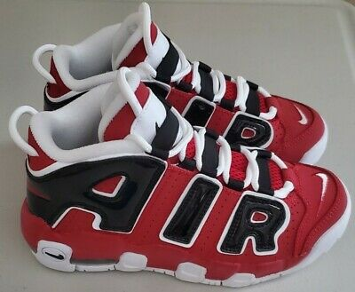 Nike Air More Uptempo '96 Hoops Pack Bulls Red White Black 921948 600 Size GS 3y