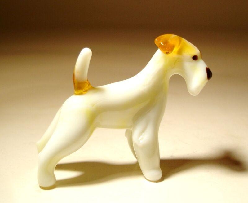 Blown Glass Handmade Art Figurine Dog FOX Terrier