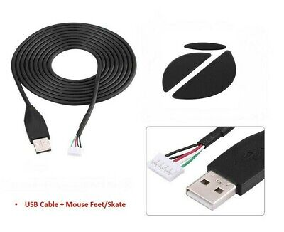 Used, USB Mouse Cable Line Mouse Feet Skate For Logitech MX518 G400 S Repair Kit for sale  Shipping to India