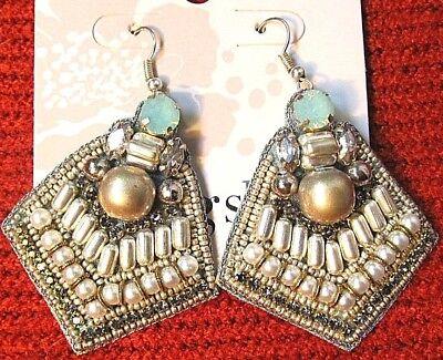 TS Earrings TAKING SHAPE 'Pompearl' glam jewelry faux gems/pearls jewellery NWT