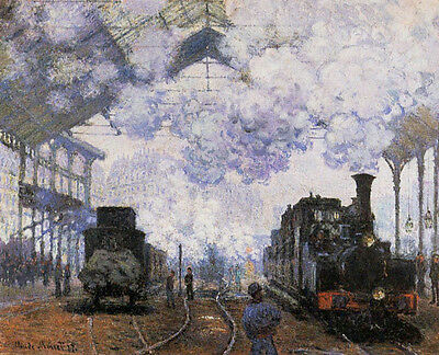Arrival at Saint Lazare Station   by Claude Monet  Giclee Canvas Print  Repro