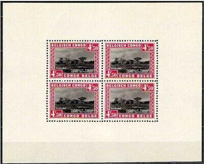 Congo Belge**PARCS NATIONAUX-BLOC 1-1937-FORET-Arbres-Belgisch Kongo