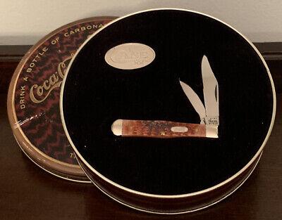 Case XX 6225 1/2 SS Limited Edition Coca-Cola Tin Pocket Knife Bone Handle