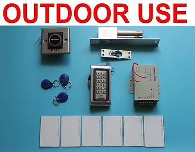 Waterproof RFID Card+ Password Door Access Control+ Door Drop Bolt Lock Outdoor