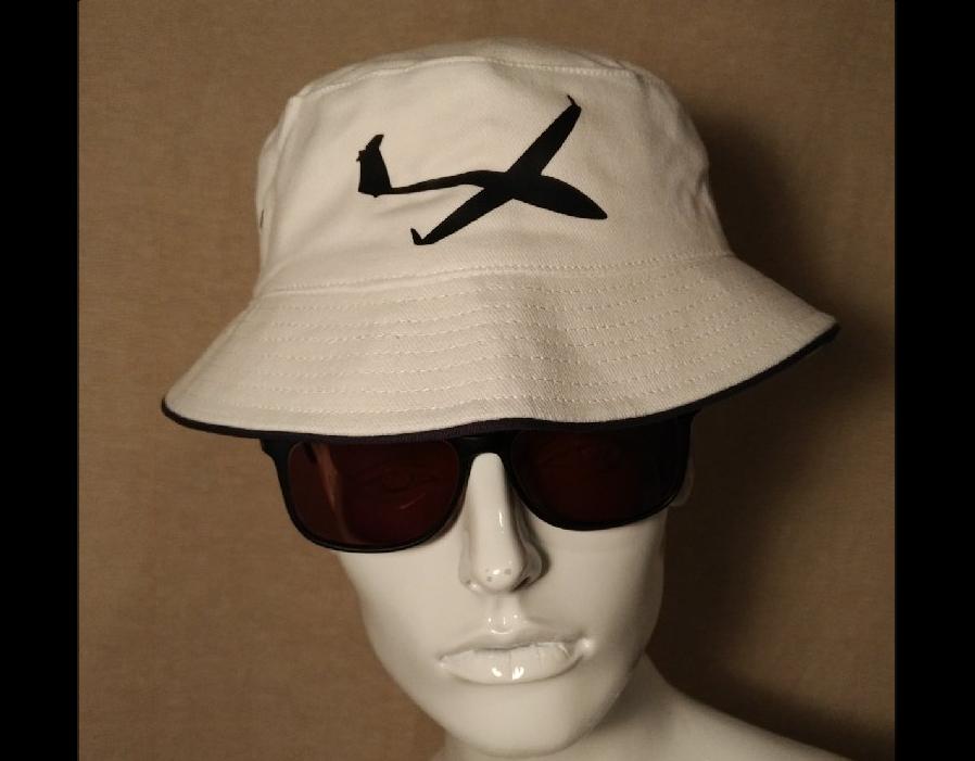Thermikhut für Segelflieger mit Segelflugzeug Mütze Hut Kappe