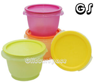 TUPPERWARE 600ML ONE TOUCH BOWL CANISTER SET (4) PGYO