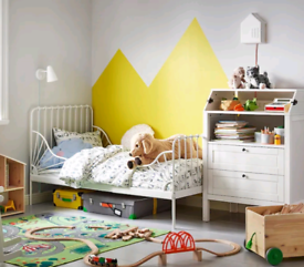 Ikea junior bed extendable to single, furniture kids