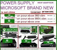 xbox one- xbox 360 slim-xbox 360 e slim-power supply adapteur