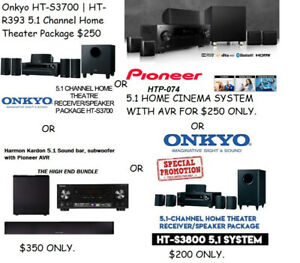Home Theatre Bundle - Onkyo Pioneer Harman Kardon Theater System